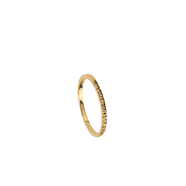 Wave Cut Band Ring
